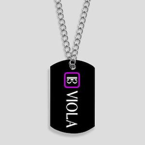 Viola & Alto Clef (Purple) Dog Tags