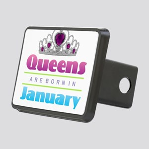 Queens are Born In January Rectangular Hitch Cover