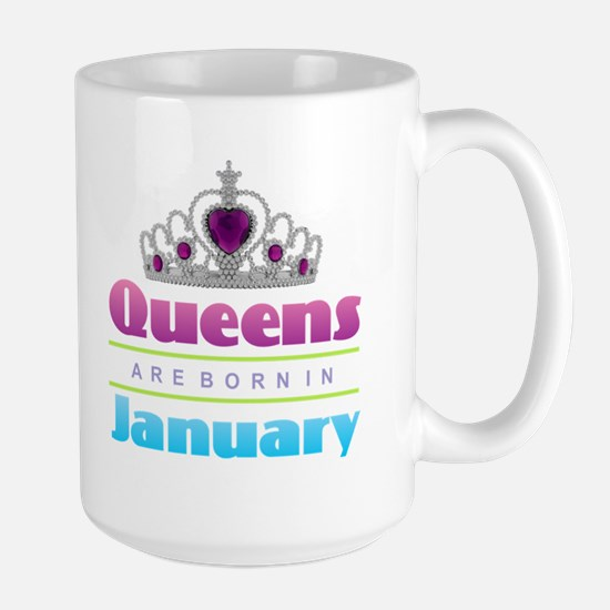 Queens are Born In January Mugs