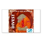 Divest from weapons dealers Sticker
