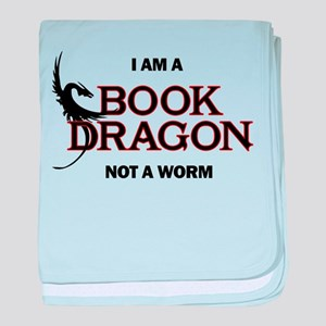 I am a Book Dragon baby blanket