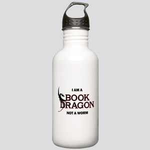 I am a Book Dragon Stainless Water Bottle 1.0L