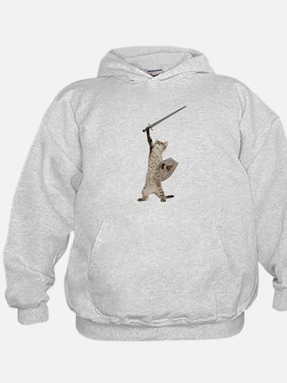 Heroic Warrior Knight Cat Sweatshirt