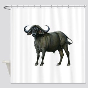 Water Buffalo Shower Curtains