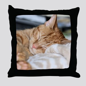 Purrfectly sleeping Throw Pillow