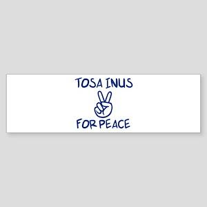 Tosa Inus for Peace Bumper Sticker