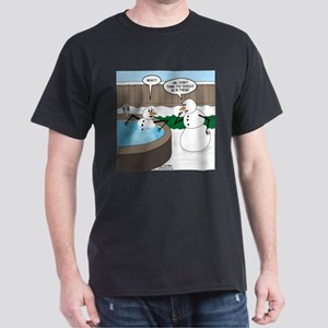 Snowman in an Hot Tub Dark T-Shirt