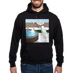Snowman in an Hot Tub Hoodie (dark)