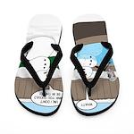 Snowman in an Hot Tub Flip Flops