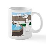 Snowman in an Hot Tub Mug