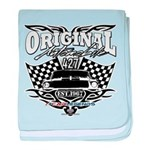 Classic Car Tribal Flags baby blanket