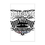 Classic Car Tribal Flags Poster Print