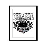 Classic Car Tribal Flags Framed Panel Print