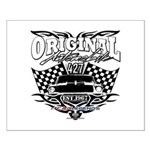 Classic Car Tribal Flags Small Poster