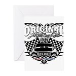 Classic Car Tribal Flags Greeting Cards