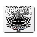 Classic Car Tribal Flags Mousepad