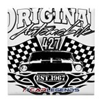 Classic Car Tribal Flags Tile Coaster