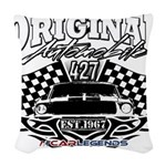 Classic Car Tribal Flags Woven Throw Pillow