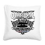 Classic Car Tribal Flags Square Canvas Pillow