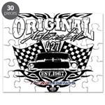 Classic Car Tribal Flags Puzzle