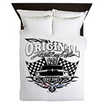 Classic Car Tribal Flags Queen Duvet