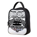 Classic Car Tribal Flags Neoprene Lunch Bag