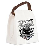 Classic Car Tribal Flags Canvas Lunch Bag