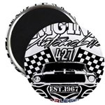 Classic Car Tribal Flags Magnets