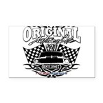 Classic Car Tribal Flags Rectangle Car Magnet