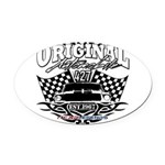 Classic Car Tribal Flags Oval Car Magnet