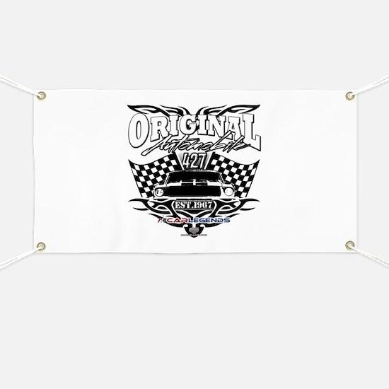 Classic Car Tribal Flags Banner