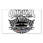 Classic Car Tribal Flags Sticker