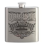 Classic Car Tribal Flags Flask