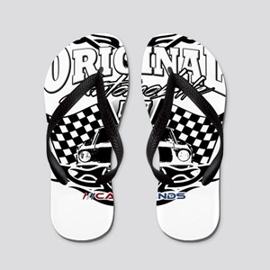 Classic Car Tribal Flags Flip Flops