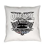 Classic Car Tribal Flags Everyday Pillow