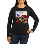 Elf Installs GPS Women's Long Sleeve Dark T-Shirt