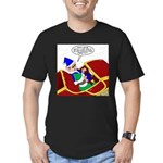 Elf Installs GPS for S Men's Fitted T-Shirt (dark)
