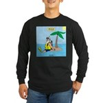 Santa SCUBA Long Sleeve Dark T-Shirt