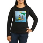 Santa SCUBA Women's Long Sleeve Dark T-Shirt