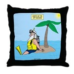 Santa SCUBA Throw Pillow