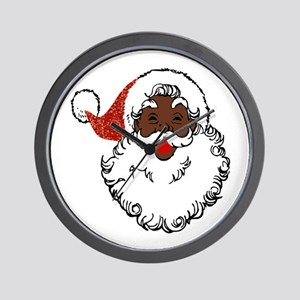 sequin African santa claus Wall Clock