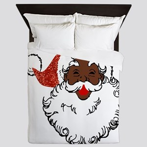 sequin African santa claus Queen Duvet