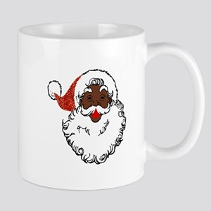 sequin African santa claus Mugs