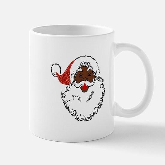 sequin African santa claus Mugs