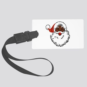 sequin African santa claus Large Luggage Tag