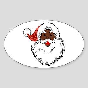 sequin African santa claus Sticker