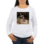 Two Turkeys on a Log Women's Long Sleeve T-Shirt