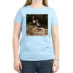 Two Turkeys on a Log Women's Light T-Shirt