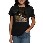 Two Turkeys on a Log Women's Dark T-Shirt