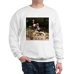 Two Turkeys on a Log Sweatshirt